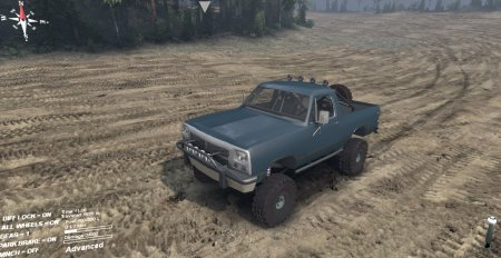 Скачать мод 91 Dodge Ramcharger Open Top v1.1 для Spin Tires 13.04.15