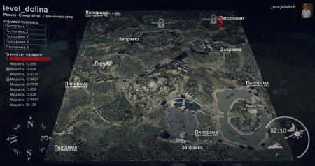 Карта Долина для SpinTires 13.04.2015