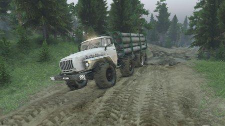 Скачать мод грузовик УрАЛ-6614 v2 для Spintires 13.04.15