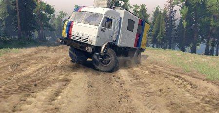 Скачать мод грузовик Kamaz 4326-4x4 для Spintires 19.03.15+