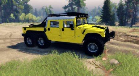 Скачать мод Hummer H1 6x6 Raptor для Spintires 19.03.15