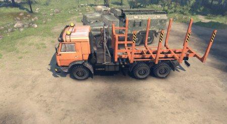 Скачать мод грузовики Камаз 44108 и 44118 для Spintires 19.03.15