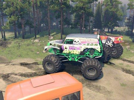 Скачать мод monster Trucks Pack для Spintires 2014