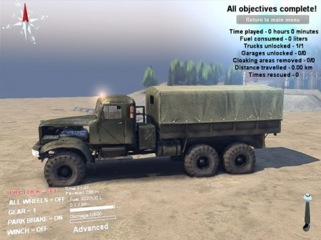 Скачать мод грузовик КрАЗ-255Б v 0.01 альфа для Spintires 2014