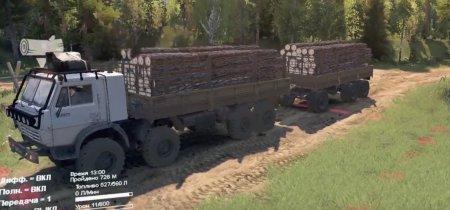Скачать мод грузовик Камаз-6350 для Spintires v. 03.03.16