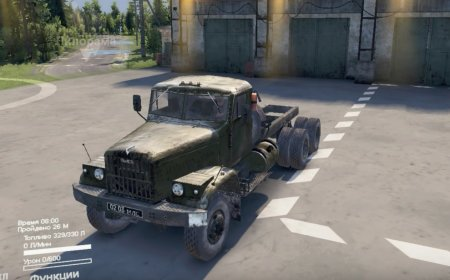 Скачать мод грузовик Краз-257 Автокран КС-4561 для Spintires v. 03.03.16