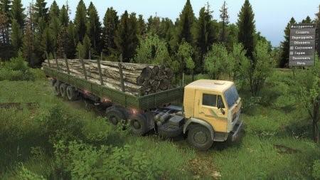 Скачать мод грузовик КамАЗ-55118 для Spintires v. 03.03.16