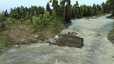 Скачать мод Карта Two Rivers (Две реки) для Spintires v. 03.03.16