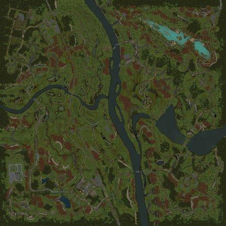Скачать мод Карта Разорванные берега для Spintires v. 03.03.16