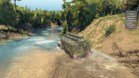 Скачать мод Карта 221: Вверх по реке (на барже!) для Spintires v. 03.03.16