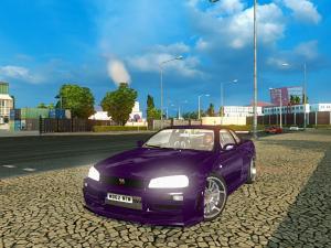 Скачать мод Nissan Skyline GTR R34 v.2 для Euro Truck Simulator 2 v. 1.27