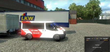 Скачать мод микроавтобус Ford Transit v.1.3 для Euro Truck Simulator 2 v. 1.26