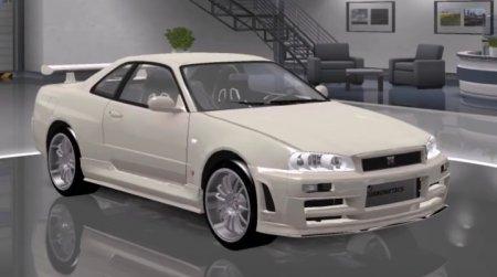 Скачать мод Nissan Skyline GTR R34 v.2 GRMModding для Euro Truck Simulator 2 v. 1.27