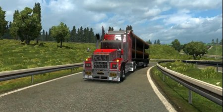 Скачать мод грузовик Mack Titan V8 v.1.5 для Euro Truck Simulator 2 v. 1.26