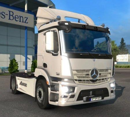 Скачать мод грузовик Mercedes-Benz Antos-1840 v.23.05.17 для Euro Truck Simulator 2 v. 1.27