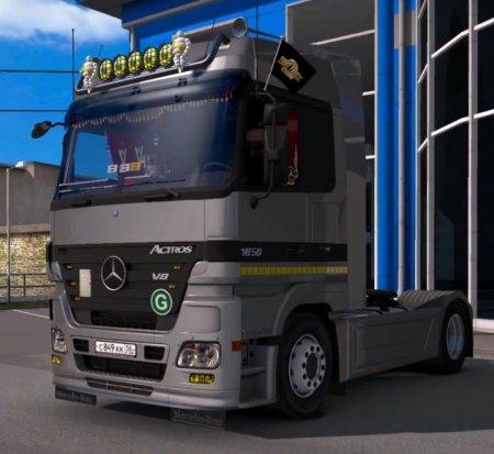 Скачать мод грузовик Mercedes-Benz MP2 v.02.04.17 для Euro Truck Simulator  ...