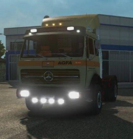 Скачать мод грузовик Mercedes Benz NG 1632 Самосвал v.22.05.17 для Euro Tru ...