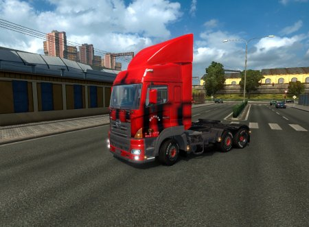 Скачать мод грузовик Hino 700 v.1.18 для Euro Truck Simulator 2