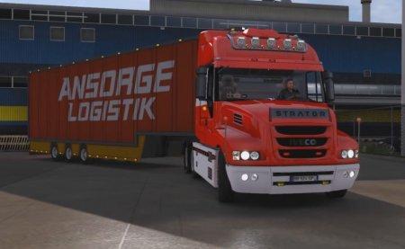 Скачать мод грузовик Iveco Strator v.20.06.17 для Euro Truck Simulator 2 v. ...