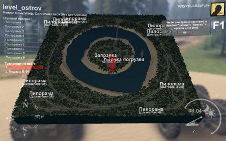 Скачать мод карта Ostrov для Spintires v. 03.03.16