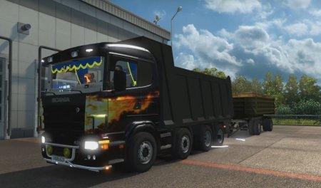 Скачать мод грузовик Scania Kapitel v.1 для Euro Truck Simulator 2 v. 1.27