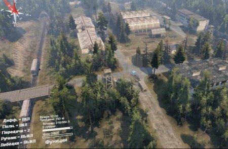 Скачать мод карта Тени Чернобыля 2 версия 1.1 для Spintires v. 03.03.16