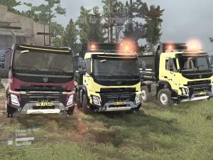 Скачать мод ПАК грузовиков Volvo для Spintires MudRunner