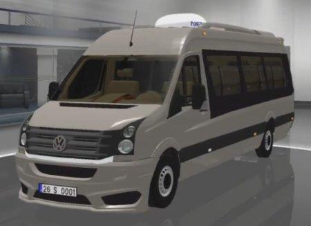 Скачать мод микроавтобуса Volkswagen Crafter 2.5 TDI v.07.11.16 для Euro Tr ...