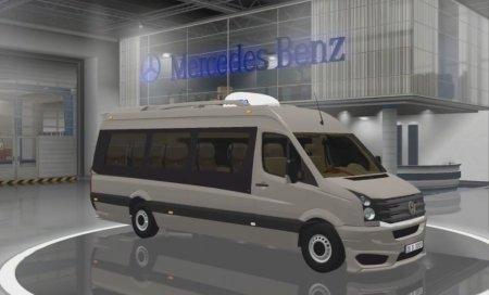 Скачать мод микроавтобуса Volkswagen Crafter 2.5 TDI v.07.11.16 для Euro Truck Simulator 2 v. 1.25