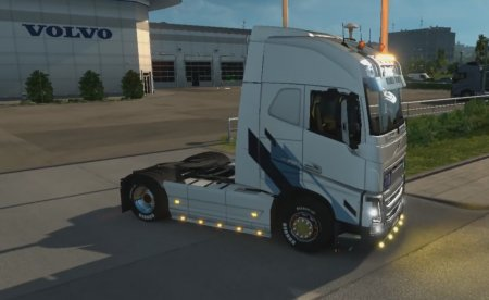 Скачать мод грузовик Volvo FH16 Full Tuning v.14.01.17 для Euro Truck Simulator 2 v. 1.24-1.26