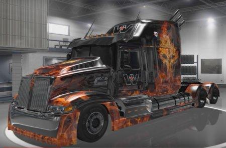 Скачать мод грузовик Western Star 5700 Optimus Prime v.1.3 для Euro Truck S ...