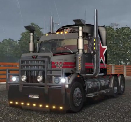 Скачать мод грузовик Western Star 4800 v.2 для Euro Truck Simulator 2 v. 1. ...