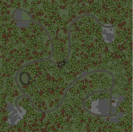 Скачать мод карта «Через лес» для Spintires v. 03.03.16