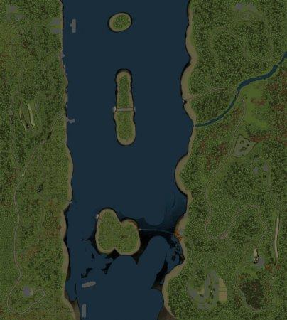 Скачать мод карта «Большая река» для Spintires v. 03.03.16