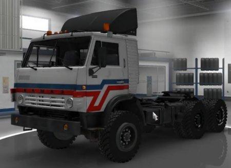 Скачать мод грузовик КамАЗ-4410/6450 v.3.5 для Euro Truck Simulator 2 v. 1. ...