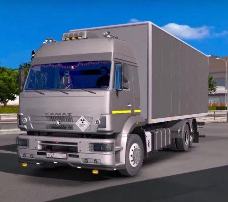 Скачать мод грузовик Камаз-5360/53602/5480/6460-73 v.30.03.17 для Euro Truck Simulator 2 v. 1.27-1.28