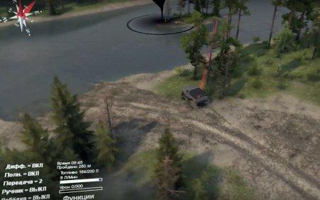 Скачать мод карта «The Forest Roads» для Spintires v. 03.03.16