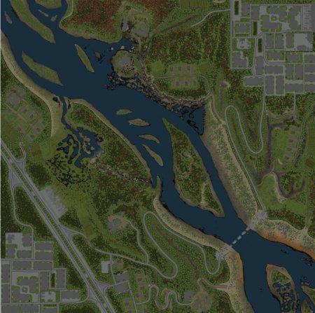 Скачать мод карта «Shallow River» для Spintires v. 03.03.16