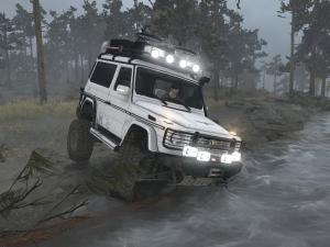 Скачать мод Mercedes-Benz G500 «Tourist version» версия 05.11.17 для Spintires MudRunner