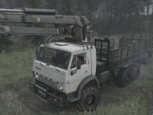 Скачать мод ПАК грузовиков Камаз-43101/43102 для Spintires MudRunner