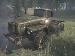 Скачать мод грузовик Урал-4320 для Spintires MudRunner