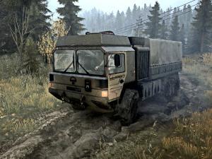 Скачать мод грузовик MAN TBT.HX60 для Spintires MudRunner