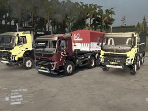 Скачать мод ПАК грузовиков Volvo версия 1.0 для Spintires MudRunner