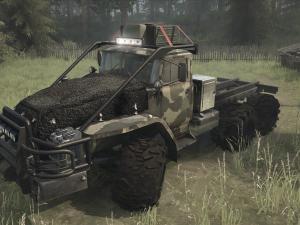 Скачать мод грузовик Урал-43201 SGS для Spintires MudRunner