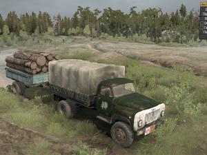 Скачать мод грузовик Газ-53 4x4 для Spintires MudRunner