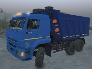 Скачать мод грузовик КамАЗ-6522 SV версия 1.1 для Spintires v. 03.03.16