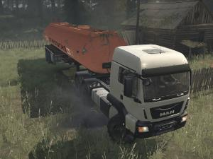 Скачать мод грузовик MAN TGS для Spintires MudRunner