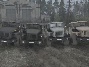 Скачать мод ПАК грузовиков Урал для Spintires MudRunner