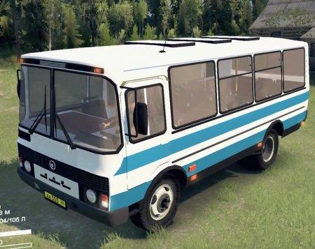 Скачать мод автобус ПАЗ-3205 версия 1.1 для Spintires v. 03.03.16
