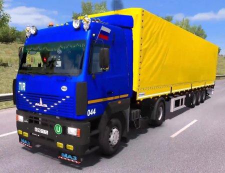 Скачать мод грузовик Маз-5340/5440/6430А8 v.02.05.17 для Euro Truck Simulat ...